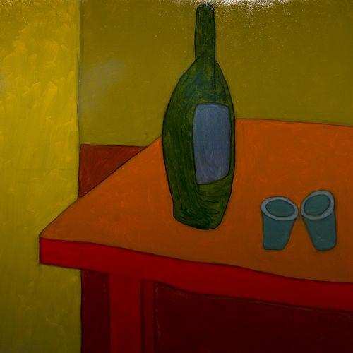 De fles, de glazen